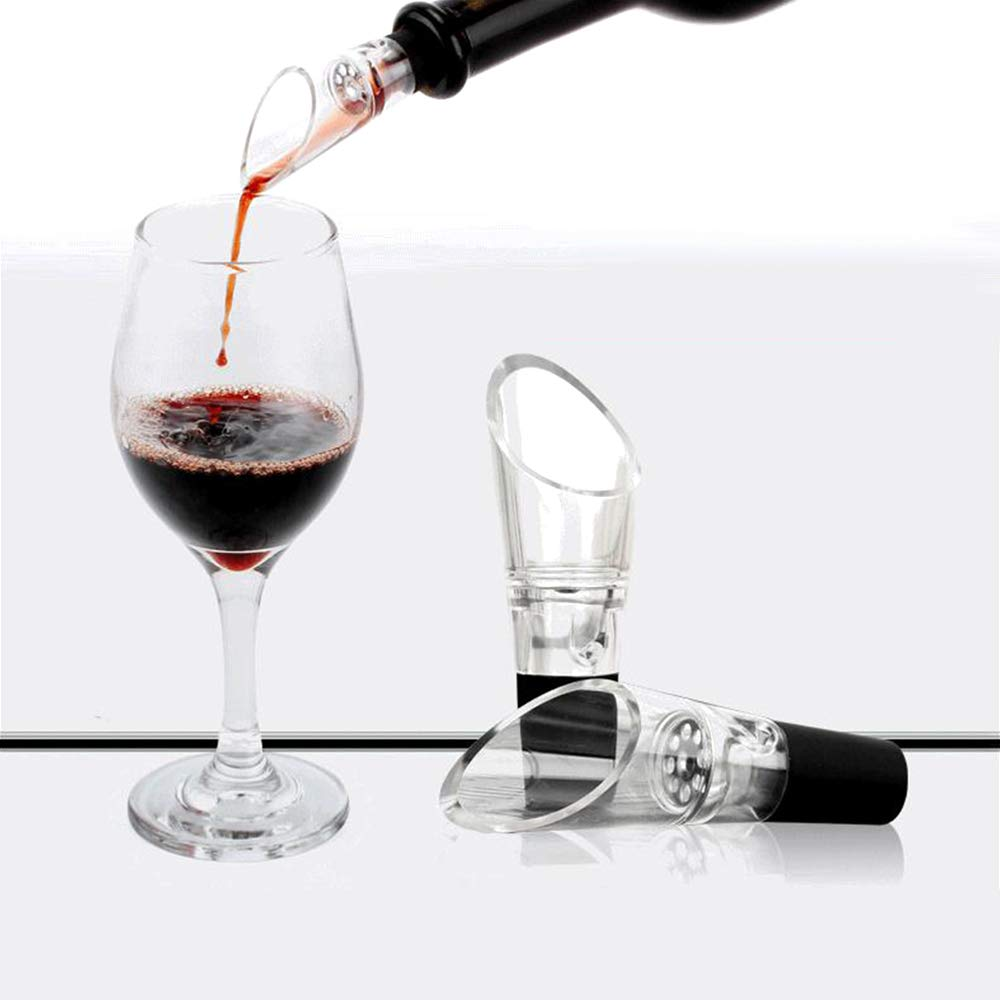 FGRYB Transparent Wine Pourer,Simple Style Wine Aerator Pourer for Dinner Party,Wine Accessories