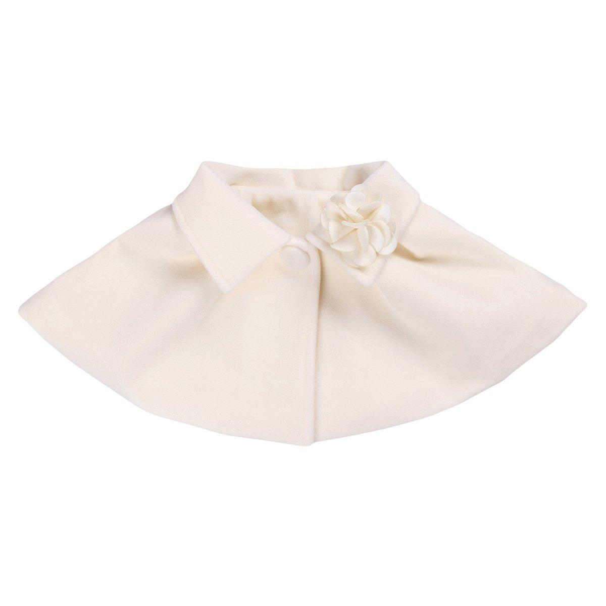 iEFiEL Little Girls Flower Bolero Shrug Shoulder Cover up Cape Short Coat Cream 24 Months