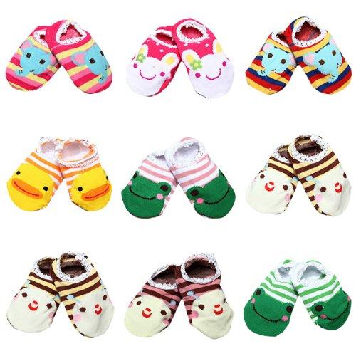 Bébé Kid antidérapant cheville Chaussettes Chaussons Chaussettes Chaussures 6-24 mois. BC MF0348500
