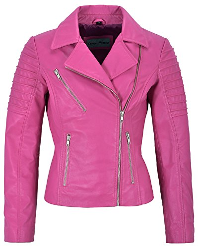 Mila Kunis Ladies Leather Jacket Stylish Fashion Designer Soft Biker Style 9334 (14 for Bust 36