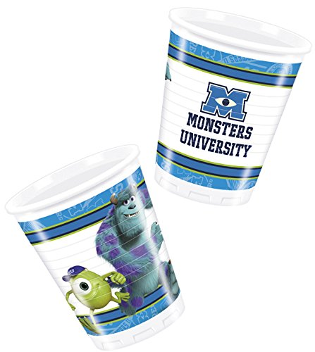 Monsters University Inc 8 Pack Party Accessories Cups Plastic