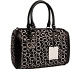 Women's Calvin Klein Purse Handbag Hudson Signature Jacquard Black/White