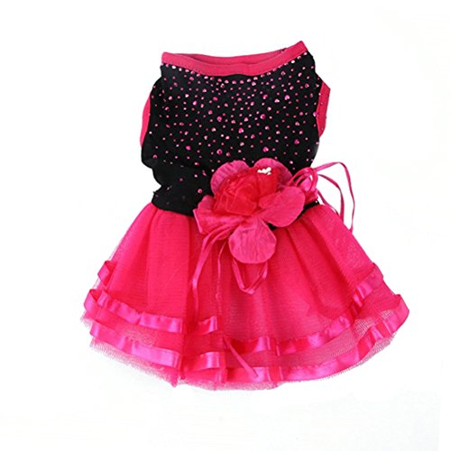 Image of Topsung Pet Blingbling Tutu Dress Red&Black Lace Dog Skirt Small Cats/Dogs Clothes, Asia Size L