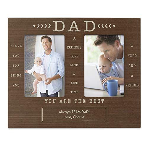 Things Remembered Personalized Rustic Dad Double Opening Frame with Engraving Included