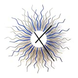 Medusa arctic L / XL / XXL- Contemporary Wooden Wall Clock with Colors of Ice