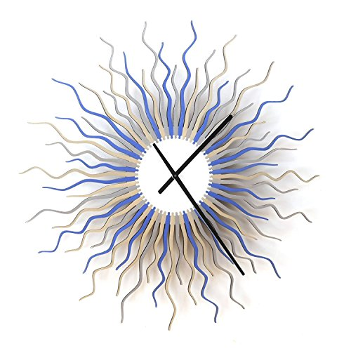 Medusa arctic L / XL / XXL- Contemporary Wooden Wall Clock with Colors of Ice by ardeola