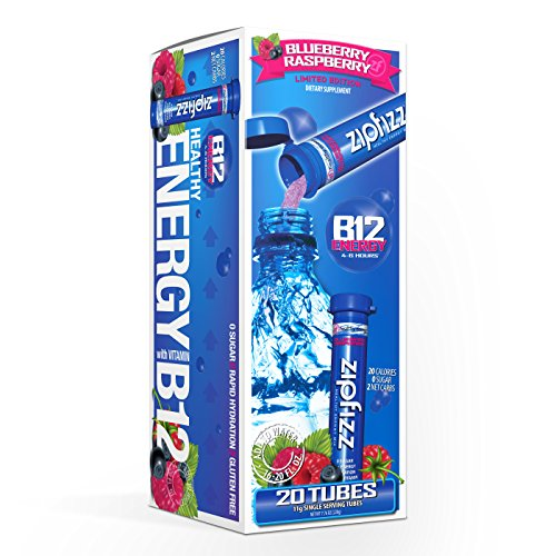 Zipfizz Healthy - Zipfizz Healthy Energy Drink Mix. Blueberry Raspberry, 20 Count