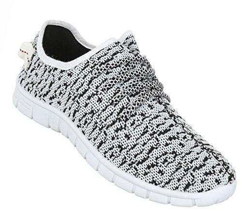 Herren Schuhe Sneaker Sportschuhe Schnürer Grau Grau