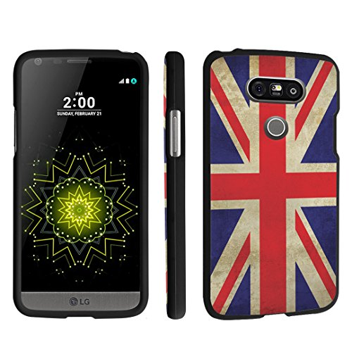 LG G5 Case, DuroCase ® Hard Case Black for LG G5 (Released in 2016) - (Union Jack Flag) (Union Jack Lg For Cover Phone G2)