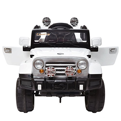 Tobbi Kids Ride on Jeep Style Truck 12V Battery Powered Electric Car W/Remote Control White