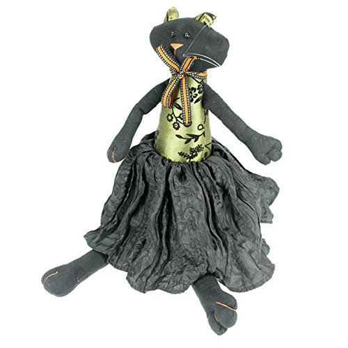 Black Fabric Halloween Cat Decoration by Gisela Graham]()