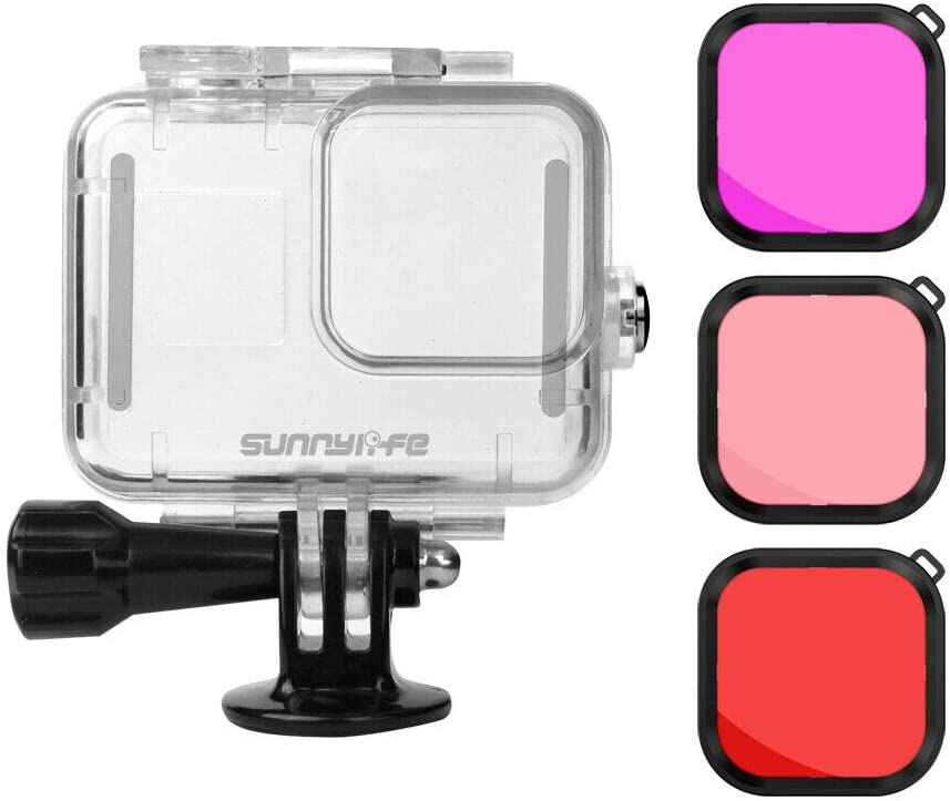 Waterproof Housing Case+Red//Magenta//Pink Diving Filters Kit Meijunter Replacement Accessories Kit for GoPro Hero 8