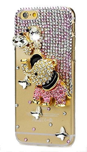iPhone 7 Plus Case, STENES [Luxurious Series] 3D - Bling Elephant Iphone Case