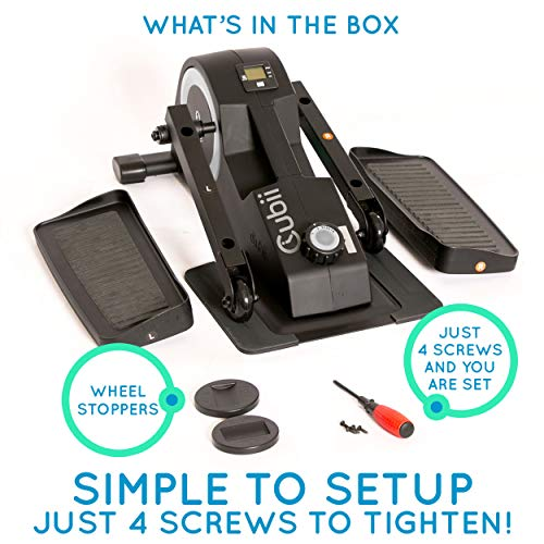 Cubii Jr: Desk Elliptical w/Built in Display Monitor, Easy Assembly, Quiet & Compact, Adjustable Resistance (Silver) by Cubii (Image #8)