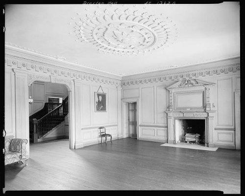 HistoricalFindings Photo: Drayton Hall,fireplaces,mantel,Charleston,South Carolina,Architecture,1938 ()