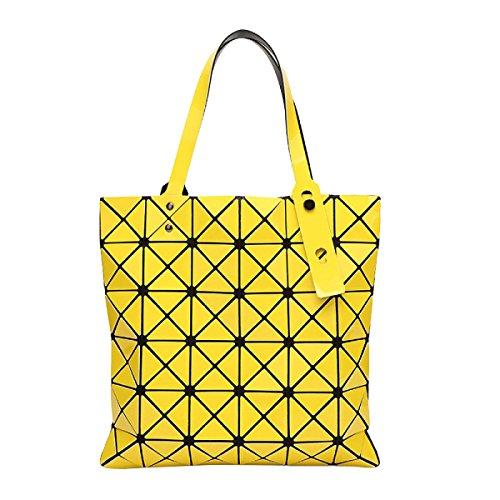 Yellow Hombro Dividida Las A De Junta Mujeres Cuadros Bolso Holograma Geométrica 6H1qvw0