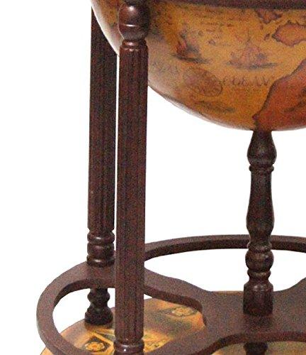 Merske Firenze Italian Style 4-Leg Floor Globe Bar, 20-Inch Diameter