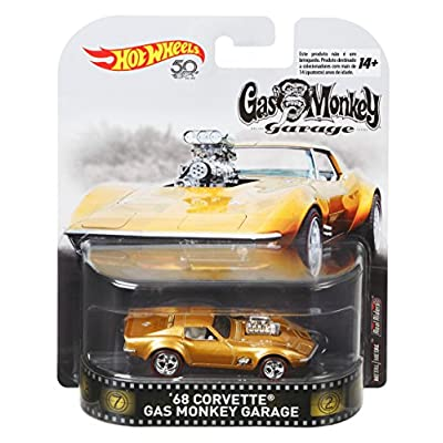 Hot Wheels Gas Monkey 68 Corvette Vehicle, 1:64 Scale: Toys & Games