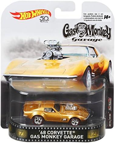 [해외]Hot Wheels 가스 원숭이 68 코르벳 차량 1:64 스케일 / Hot Wheels Gas Monkey 68 Corvette Vehicle, 1:64 Scale