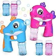 FUN LITTLE TOYS 2 Bubble Guns with 4 Bottles Bubble Solution, Bubble Blower for Bubble Blaster Party Favors, Summer Toy, Out