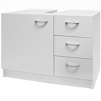Waschbeckenunterschrank Unterschrank Badzimmerschrank 3 Schubladen 63 cm x  54 cm x 30 cm weiß