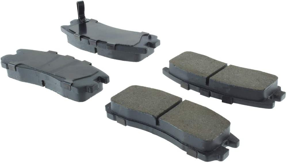 Disc Brake Pad Set-Premium Ceramic Pads with Shims and Hardware Rear Centric