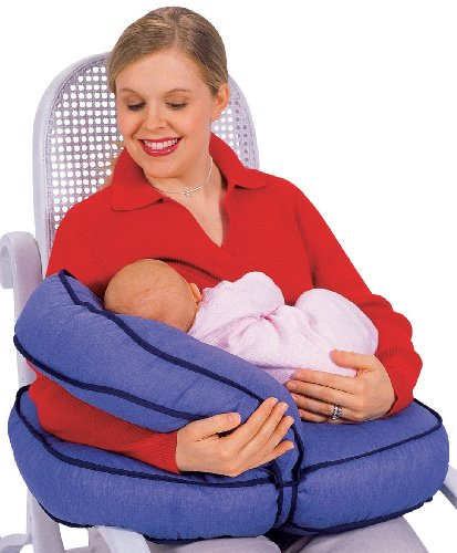 Leachco Natural Boost - Adjustable Nursing Pillow - Denim