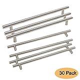 Gobrico GB201HSS256 Stainless Steel kitchen Door Cabinet Handles T-bar Drawer Cupboard Pull Knob 10'' Hole Center - 30 Pack