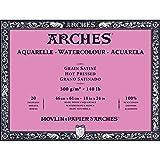 Arches Watercolor Paper Block, Hot Press, 18'' x 24'', 140 pound (1795076)