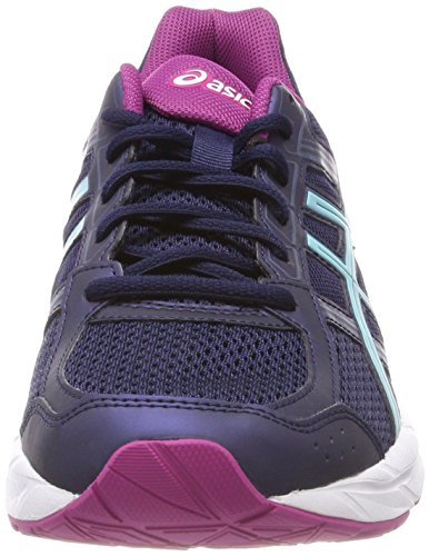 Asics Damen Gel-Contend 4 Laufschuhe Blau (Peacoatporcelain Bluefuchsia Red 5814)