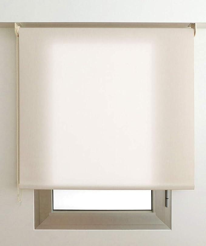 EB ESTORES BARATOS Estor Luminoso Elite (Desde 40 hasta 300cm de Ancho) Permite Paso de Mucha luz, no Permite Ver el Exterior/Interior. Color Arena. Medida 84cm x 200cm para Ventanas y Puertas