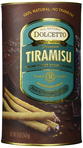Chocolate Dolcetto Cookies - Dolcetto Cream Filled Rolled Wafers Tiramisu -- 12 oz