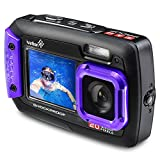 Photo : Ivation 20MP Underwater Shockproof Digital Camera & Video Camera w/Dual Full-Color LCD Displays – Fully Waterproof & Submersible Up to 10 Feet (Purple)