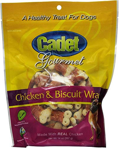 (Cadet Chicken & Biscuit Wraps for Dogs, Gourmet, 14 Ounce, 12 Pack)