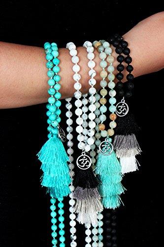 MHZ JEWELS Amazonite 108 Mala Beads Layered Tassel Necklace Bracelet Yoga Prayer Spirit Long Necklace for Women by MHZ JEWELS (Image #4)