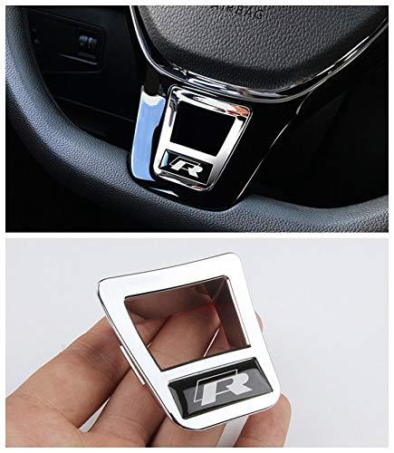 - Steering Wheel Cover Badge Chrome Trim R for Volkswagen VW Passat Atlas Touran Jetta Polo Golf/GTI MK7 Tiguan 2016 2017 2018 2019