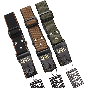 muxico cool design cotton leather guitar strap brown musical instruments. Black Bedroom Furniture Sets. Home Design Ideas