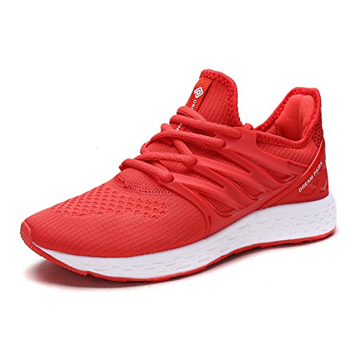 DREAM PAIRS Women's 170330-W Red Comfortable Soft Lace-up Running Shoes Size 8.5 M (Red Womens Running Shoe)
