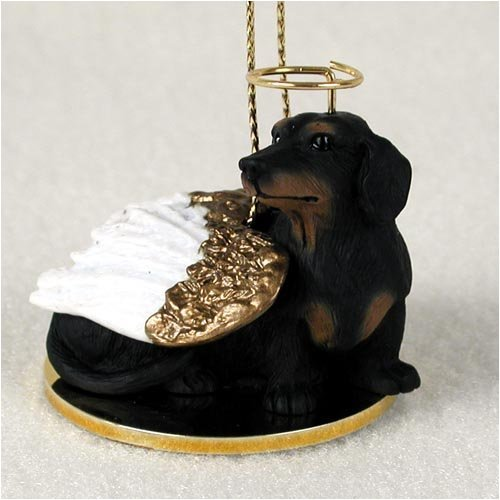 Dachshund Angel Dog Ornament - Black & Tan by Conversation Concepts