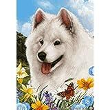 Best of Breed Summer Flowers Full Flag – Samoyed For Sale