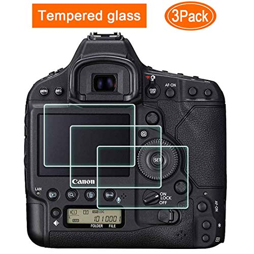 1DX Mark II Screen Protector for Canon EOS 1DX Mark II/I DSLR Camera, ULBTER EOS 1DX MK 2 Ultra-Clear 0.3mm 9H Tempered Glass Screen Protector Film,Anti-Scrach Anti-Fingerprint Anti-Dust [3 Pack] (Canon 1dx Screen Protector)