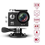 GSPON Wifi Action Camera 4K Ultra HD 12MP 30M Waterproof DV Camcorder 170 Degree Wide Angle Lens Sports Camera 2 Inch LCD Screen with Accessories Kit for Outdoor Cycling Swimming Surfing