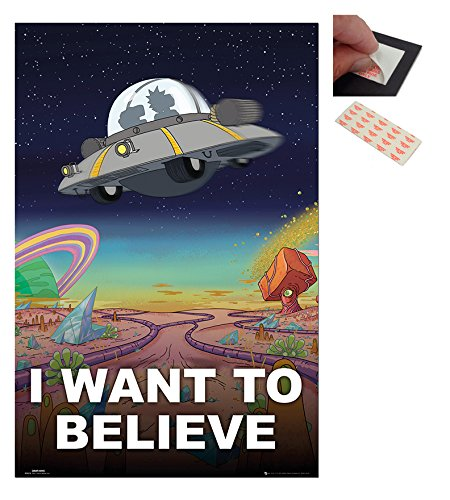 Bundle - 2 Items - Rick And Morty I Want To Believe Poster -