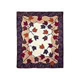 Patch Magic 50-Inch by 60-Inch Autumn Leaves Throw