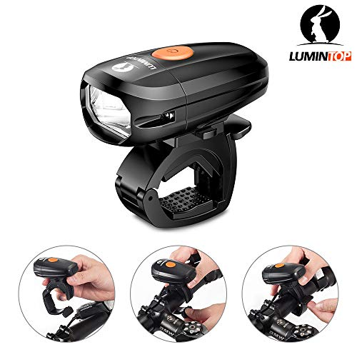 LUMINTOP C01 USB Rechargeable Bicycle Front Light, IP68 Waterproof, Bike Headlight with Super Bright Cree Neutral LED, Road Cycling Safety Flashlight, Easy Install & Quick Release【2 years warranty】 by LUMINTOP