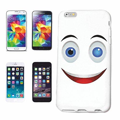 """cas de téléphone iPhone 5 / 5S """"BIG VISAGE SOURIANT """"sourire EMOTICON sa SMILEYS SMILIES ANDROID IPHONE EMOTICONS IOS APP"""" Hard Case Cover Téléphone Covers Smart Cover pour Apple iPhone en blanc"""
