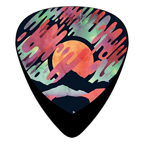 Boreal Aurora Bear 351 Shape Medium Classic Celluloid Picks, 12-Pack, For Electric Guitar, Acoustic Guitar, Mandolin, And Bass (Aurora Shape)