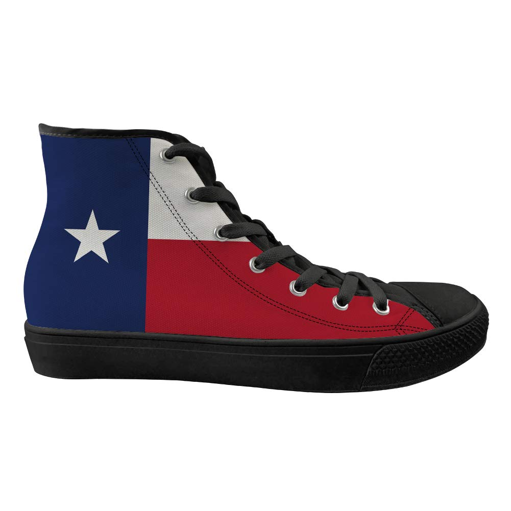 Unisex Casual High-Top Skate Shoes Classic Sneakers Adults Trainers Texas Flag