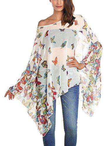 DJT Womens Floral Printed Chiffon