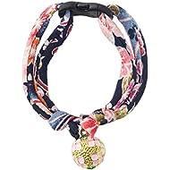 Necoichi Chirimen Temari Dynasty Cat Collar (Navy)